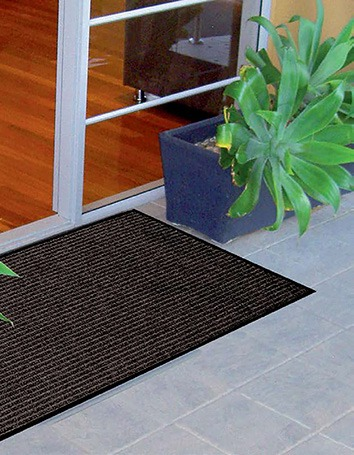 Birrus Ribbed Mat in use at a commercial building