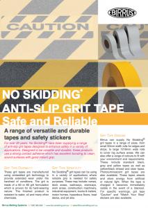 Birrus NO SKIDDING Grit Tapes Datasheet