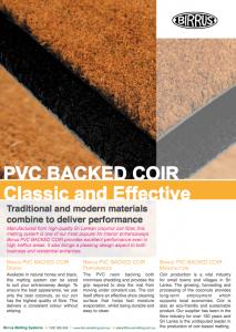 PVC-Backed Coir Datasheet
